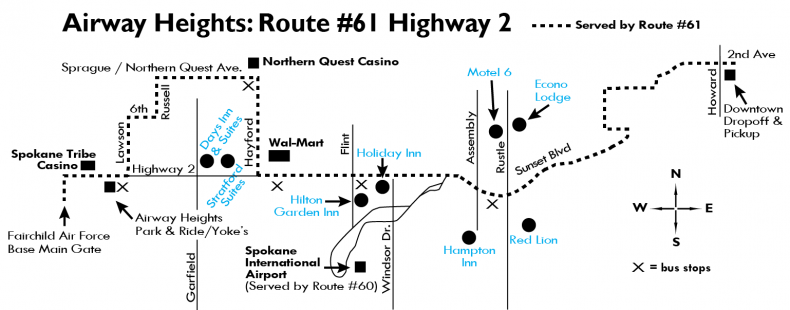 Airway Heights Map