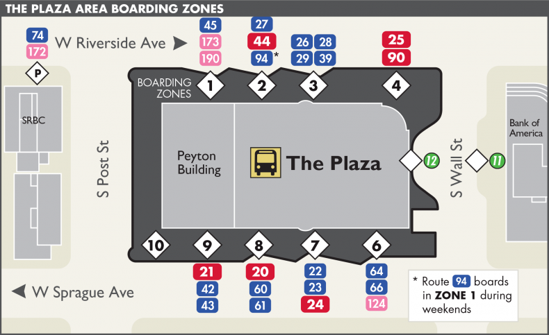 Plaza Boarding Zones Spokane Transit Authority