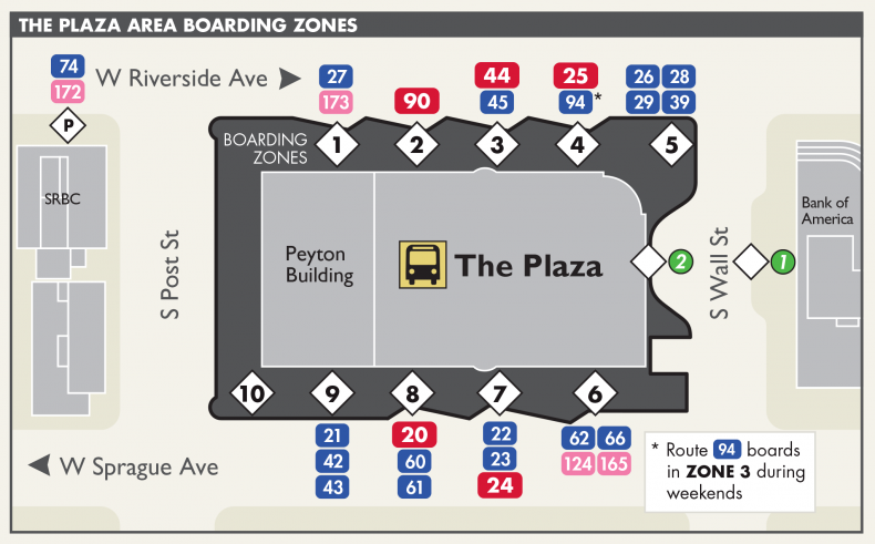 Plaza Boarding Zones