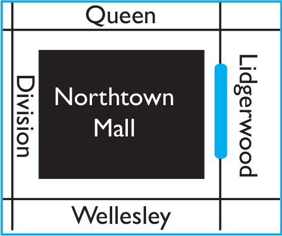 Northtown location map