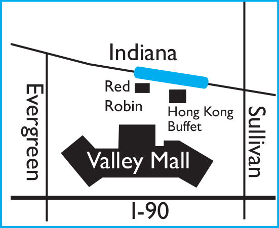 Valley Mall location map