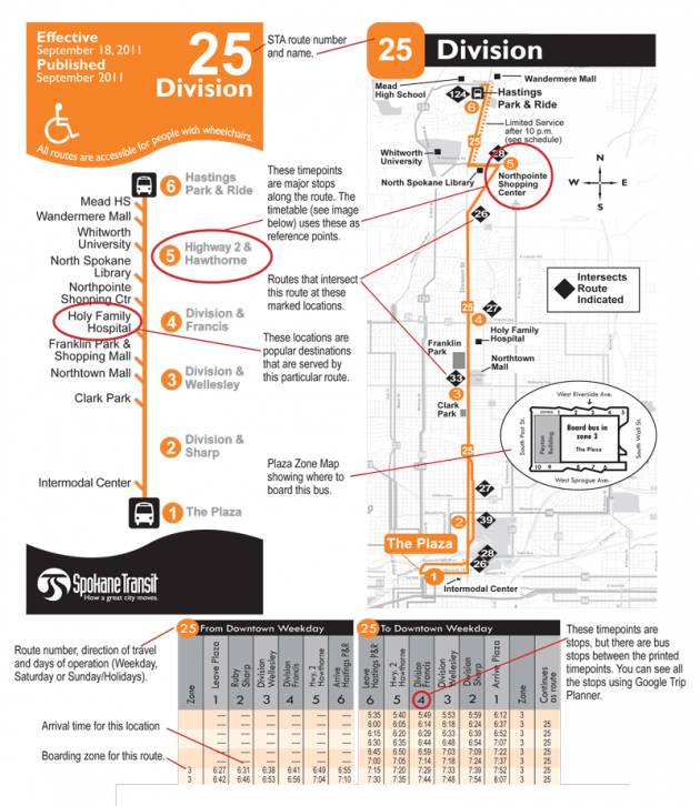 How to Read A Schedule Spokane Transit Authority